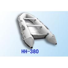 PVC ou Hypalon Inflatable Boat 3,8 m contreplaqué pvc bateau aluminium un étage