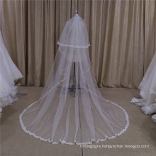 Two Layers Lace Edge Veil