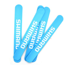 Top Quality Logo Colorful Printed Customized Logo Reflective Silicone Slap Bracelet