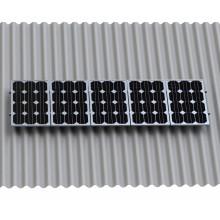 Conception de structure de support de panneau solaire de kit de pieds de L de feuille ondulée