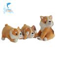 Brinquedo musical de pelúcia em formato de animal fofo para cachorro