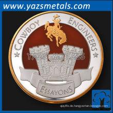 kundenspezifische Metall-Nickel-Kommandanten-Münze mit antikem und emailliertem Finish