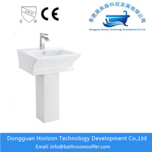 Column rectangular countertop basin