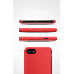 Iphone 8  phone case silicone material red color