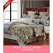 Мода сатин жаккардовые постельные принадлежности свадебные 100% хлопок постельные принадлежности
