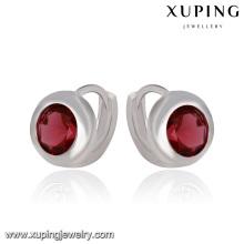 91599 Xuping Fashion Rhodium élégant CZ Diamond Imitation bijoux bébé boucle d'oreille Hoop