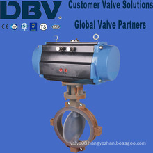 Fluorine Lined Pneumatic Wafer Type Butterfly Valve