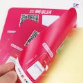 El doble cara autoadhesiva del PVC hace frente imprimiendo impresión de lado de la cara imprime la etiqueta