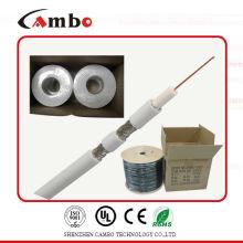 El mejor cable 75ohm / 50ohm del cambo RG6 del precio de la alta calidad con CCS / BC aprobó la fábrica / fabricante del certificado CE / UL / ISO9001 en shenzhen /