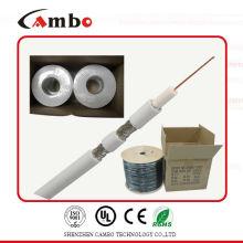 Meilleur prix meilleur prix Câble Cambo RG6 75ohm / 50ohm avec certificat CCS / BC CE / UL / ISO9001 certificat usine / fabricant à Shenzhen /