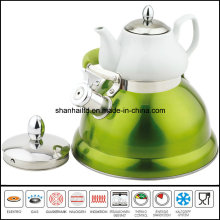 3L+0.75L Double Whistle Kettle with Ceramic Tea Pot Multi-Functional Kettle
