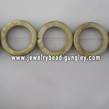 yellow donut shape fresh water shell beads