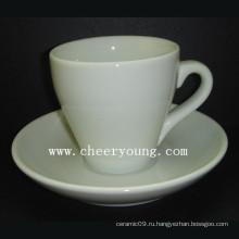 Кофейная чашка и блюдце (CY-P571)