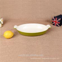 Cast Iron Enamel Dish Pan/Plate Dish