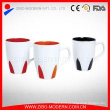 Atacado promocional cor 18oz dentro de caneca de café cerâmica