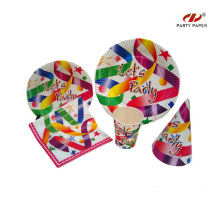 Kids Birthday Party Paper Tableware Set