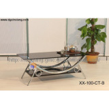 Chrome coffee table--metal furniture