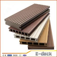 Hollow sólidos desenhos impermeável laminado outdoor WPC bordo para construção
