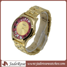 Pink Color Number on Case Fashion Wrist Watch