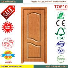 China Alibaba comercial utiliza madera puerta de PVC