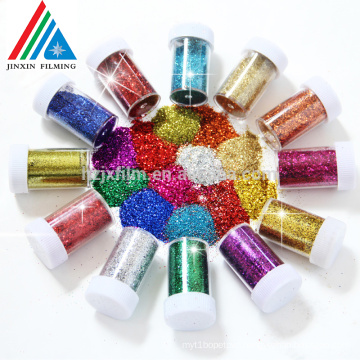 Gold/silver Polyster Glitter Powder for Decoration Various Color shinny POWDER