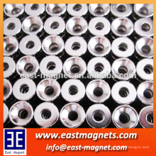 N50 ndfeb countersink magnet for sale/neodymium magnet countersink shape custom-made