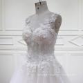 A-Line 3D Flowers Lace Beading Bridal Dresses