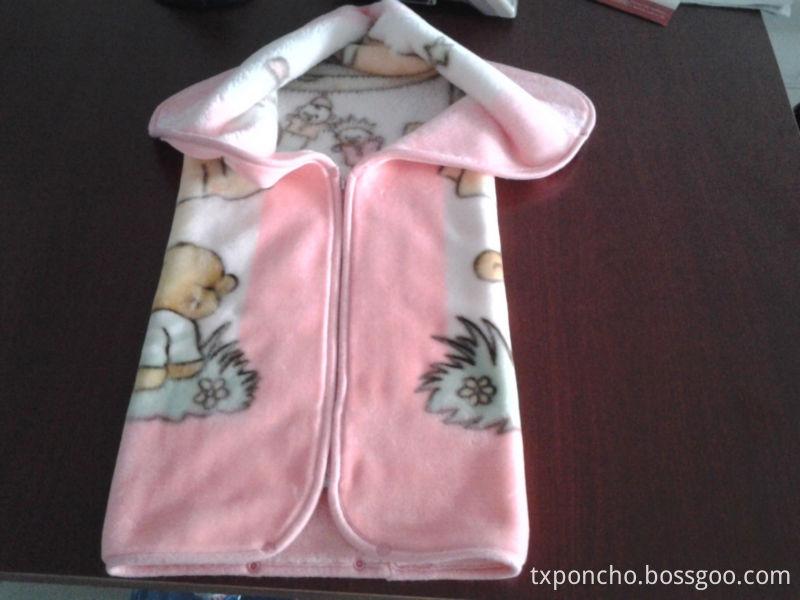 Hooded baby blanket