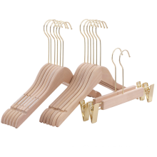 Oem and ODM Customized wooden hanger printed logo with rose golden