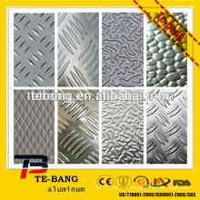 Portée de construction, décoration, solide feuille en aluminium gaufré