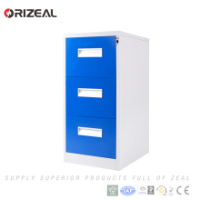 Armario de archivador Orizeal de metal de alta calidad con tres cajones en venta (OZ-OSC023)