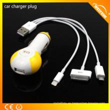 Lindo diseño de múltiples funciones cargador de batería del teléfono móvil / cargador de coche para portátil y teléfonos móviles