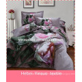 cotton polyster blend printed 3d bedding sets