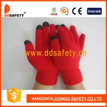 Rojo para el iPhone guantes (dkd431)