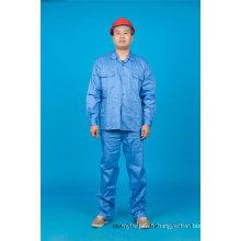 65% polyester 35% coton de haute qualité à manches longues vêtements de travail de sécurité (BLY2004)