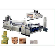 Máquina automática de impressão e corte de papelão