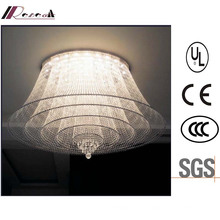 Lâmpada luxuosa do teto do candelabro de cristal da entrada K9 do hotel