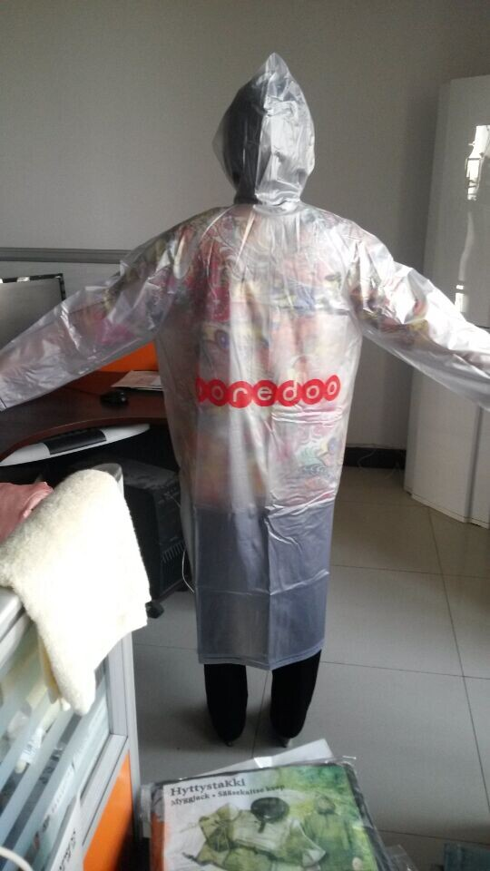 PVC RAINCOAT 0.25MM back