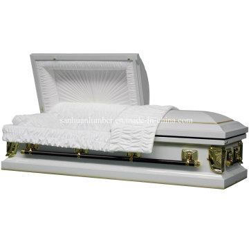 18 Ga teneur en Steeel cercueil avec couleur argent 1201s