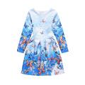 Crianças Mais Recente Moda Manga Comprida Kid Dress Design Vestido Da Menina De 9 Anos De Idade Para O Outono Inverno Primavera