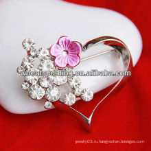 Heart Shape Мода Ювелирные изделия Сердце Брошь Костюм Ювелирные изделия Брошь BH37