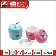 New Plastic Lunch Box/Apple shape Plastic Lunch Box ( 0.6 L)