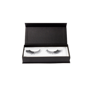 Eksport Black Eyelash Packaging Box Hadiah Magnetic