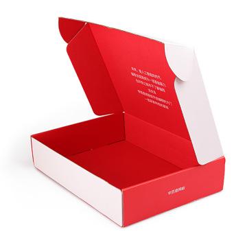Customized Printed Mailer box Recycled pink Kraft Folding Box Corrugated Shipping Boxes custom logo
