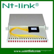 Rack-mount 1x16 plc fiber optic splitter