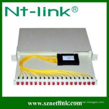 Rack-mount 1x16 plc divisor de fibra óptica