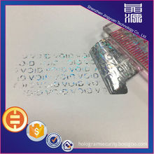 3D Tamper Proof Hologram Stickers