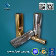 Película laminada térmica metalizada, oro, plata