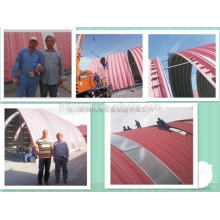 Color steel Metal Arch roof building machine