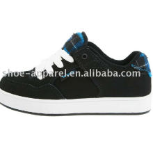 black nubuck sports skate shoe